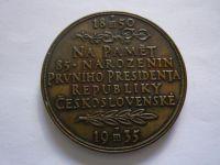 85 narozeniny TGM 1935, průměr 50mm, ČSR