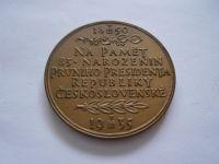 85.narození TGM 1935 průměr 50mm, etue, ČSR