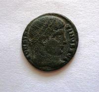 AE-3, Constantinus I., 307-37, táborová brána, Řím-císařství