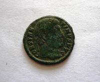 AE-Follis, Licinius, 308-24, stojící Jupiter, Řím-císařství