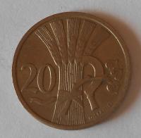 ČSR 20 Haléř 1921, pěkný