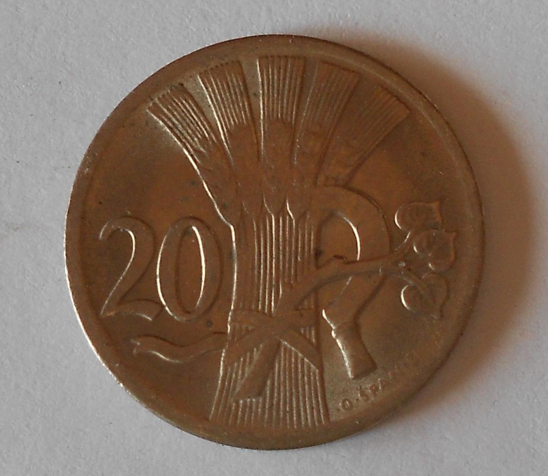 ČSR 20 Haléř 1938, stav