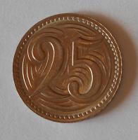 ČSR 25 Haléř 1933, stav