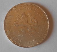 ČSR 5 Koruna 1929, stav