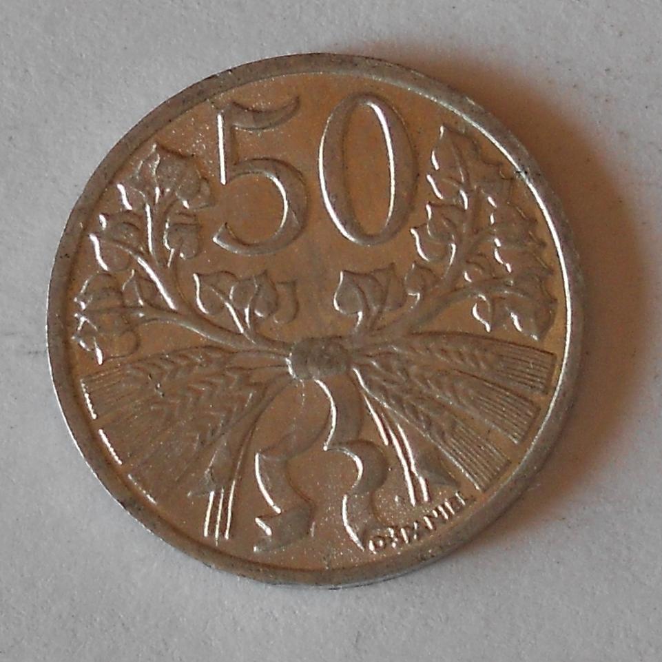 ČSR 50 Haléř 1953, pěkný