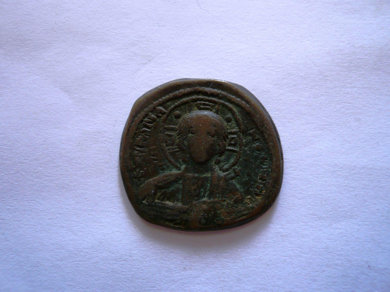 Follis, Jan I., 969-976, hlava Krista, Emma Novma, Byzanc