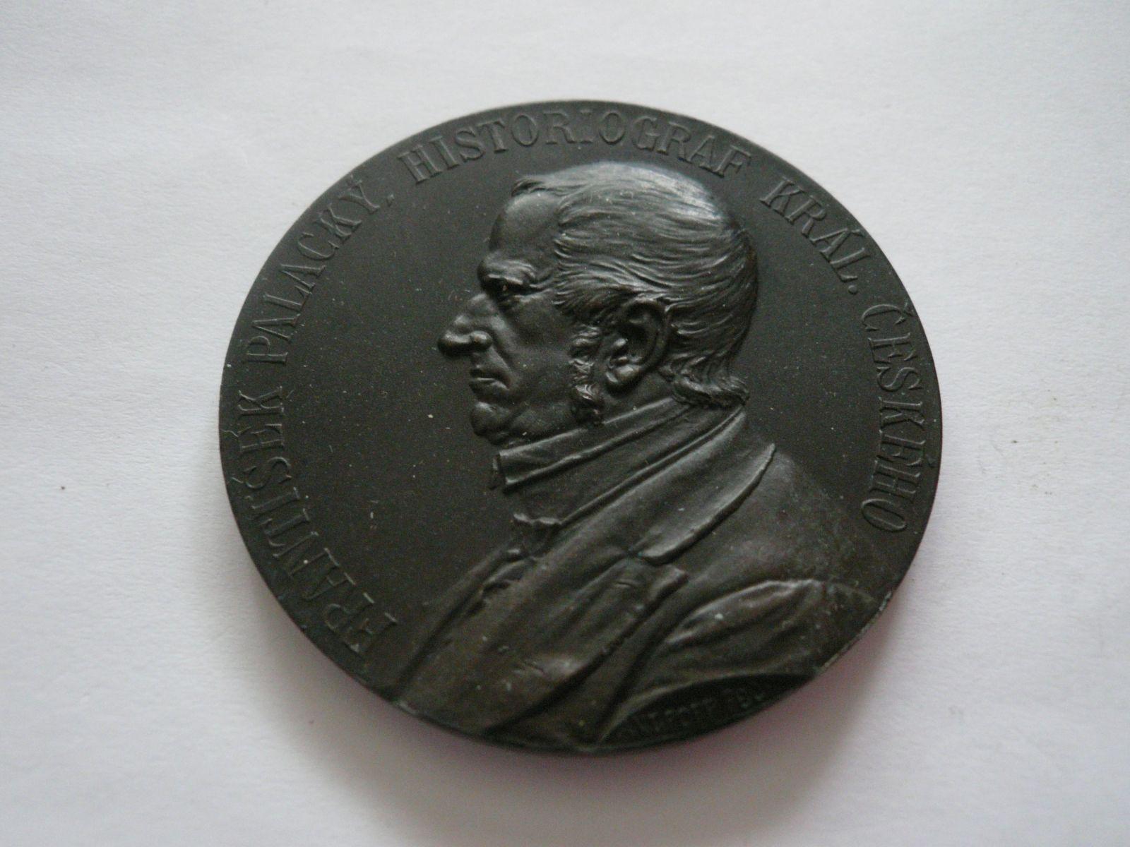 František Palacký, 1898, průměr 55mm, Čechy