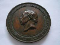 pomník maršála Radeckého v Praze, bronz med., 1859, průměr 80mm, Čechy
