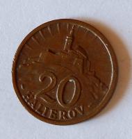 Slovensko 20 Haléř 1940 Cu