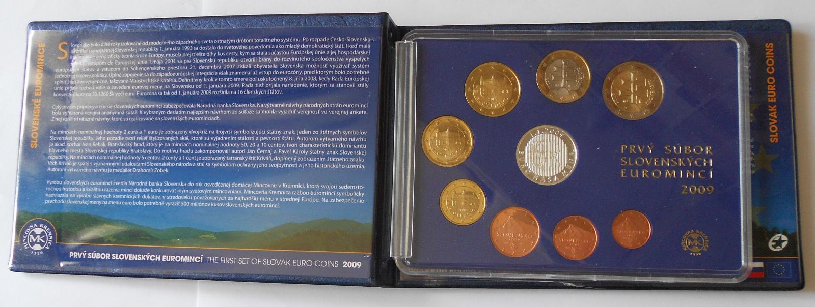 Slovensko Sada 1 Soubor euromincí 2009