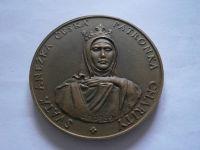 sv. Anežka, bronz průměr 60mm, ČSR