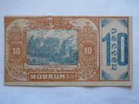 10 Heller, nouzovka, 1920, (Rodaun) Rakousko