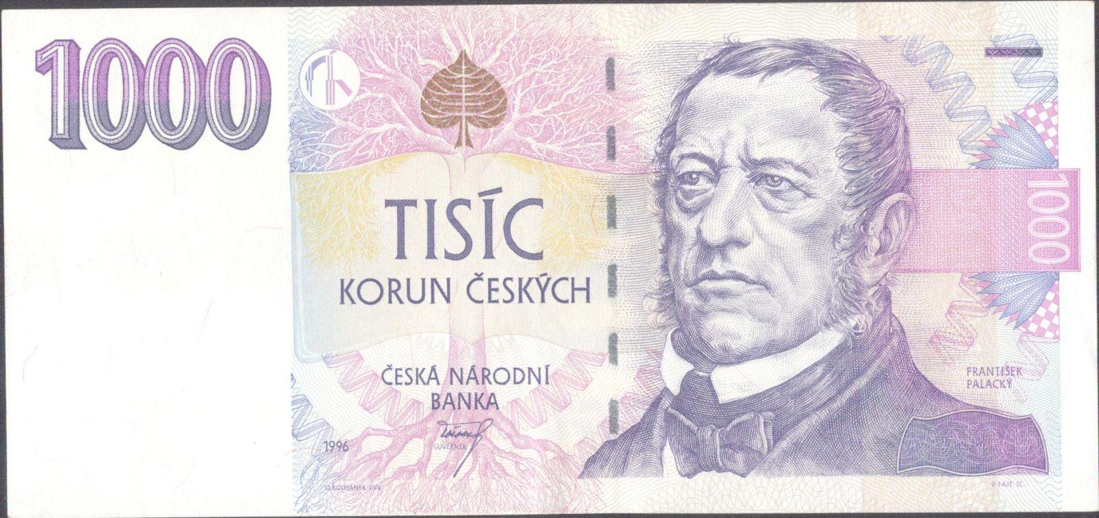 1000Kč/1996/, stav 1+, série E 66