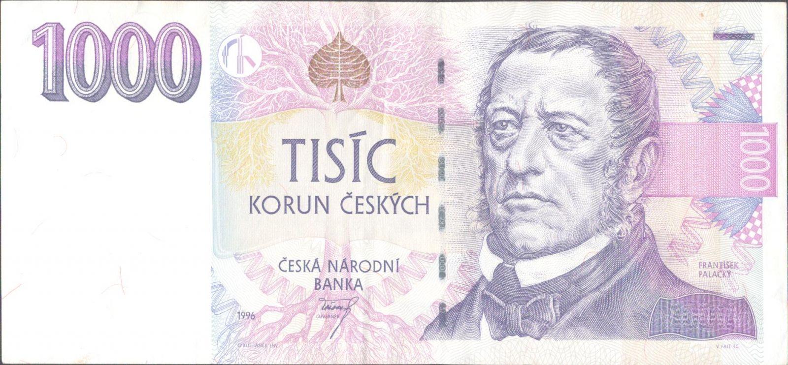 1000Kč/1996/, stav 1-, série F 19