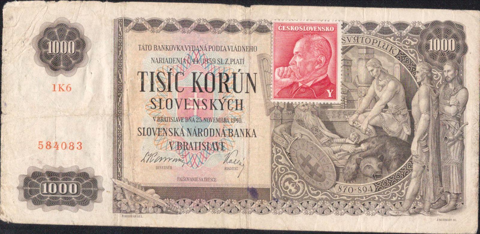 1000Ks/1940-kolek ČSR/, stav 4+, série 1K6