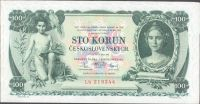 100Kč/1931/, stav 2+ (slabý ohyb do kříže), série Lb