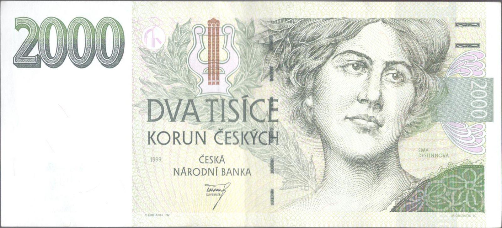2000Kč/1999/, stav 1, série B 11