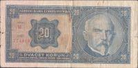 20Kč/1926/, stav 4, série U - tisk Haase