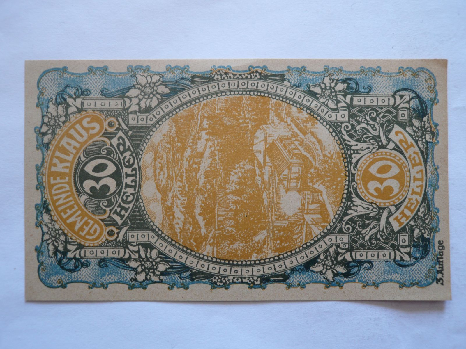 30 Heller, nouzovka, 1920 Rakousko