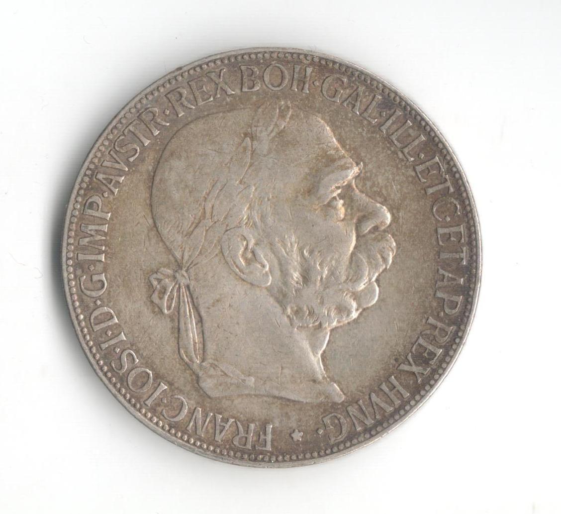 5 Korun(1900-ražba bz), stav 2+/2+ hr., patina