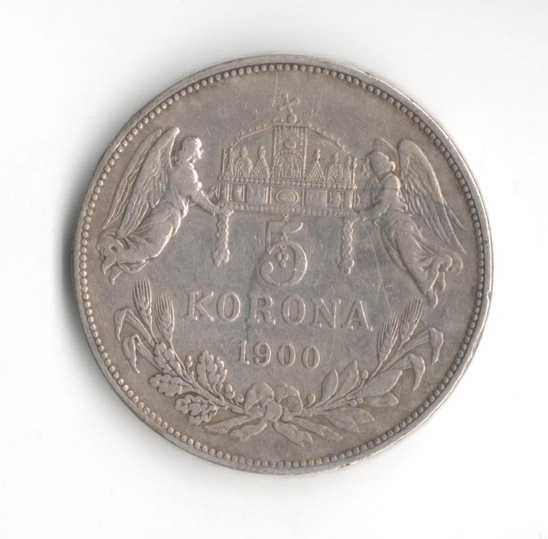 5 Korun(1900-ražba KB), stav 1+/1 hr., patina