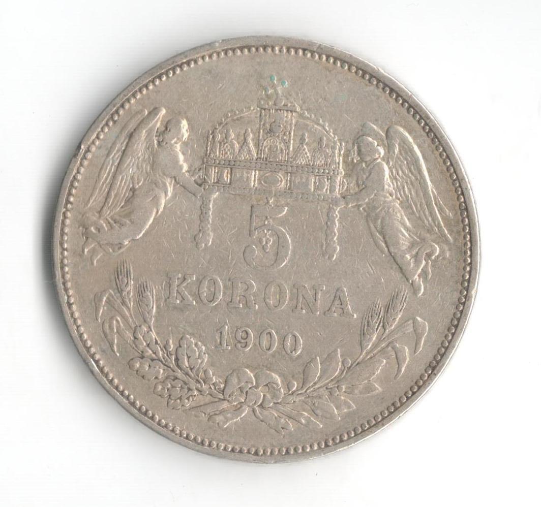 5 Korun(1900-ražba KB), stav 1/1+ hr., patina