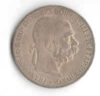 5 Korun(1907-ražba bz), stav 1-/2 hr., patina