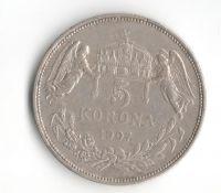 5 Korun(1907-ražba KB), stav 1/1- hr.