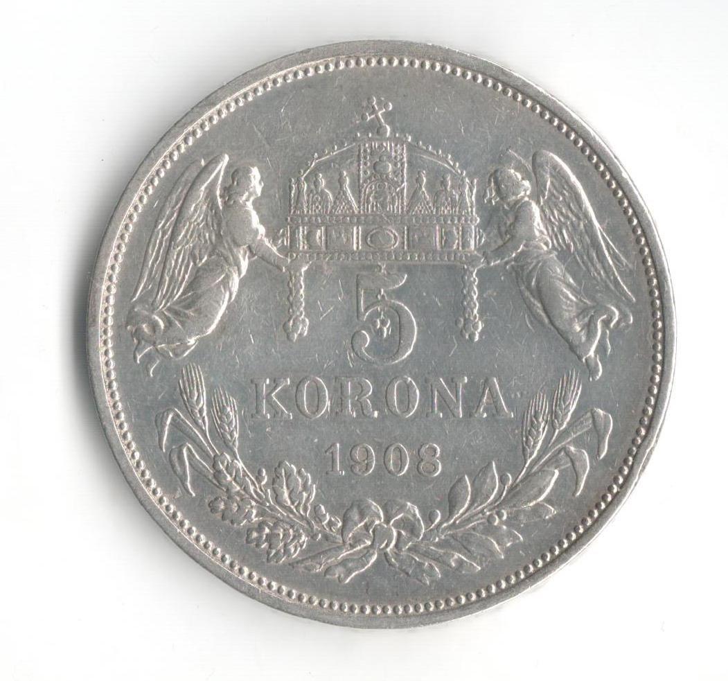 5 Korun(1908-ražba KB), stav 1/1- dr.hr.