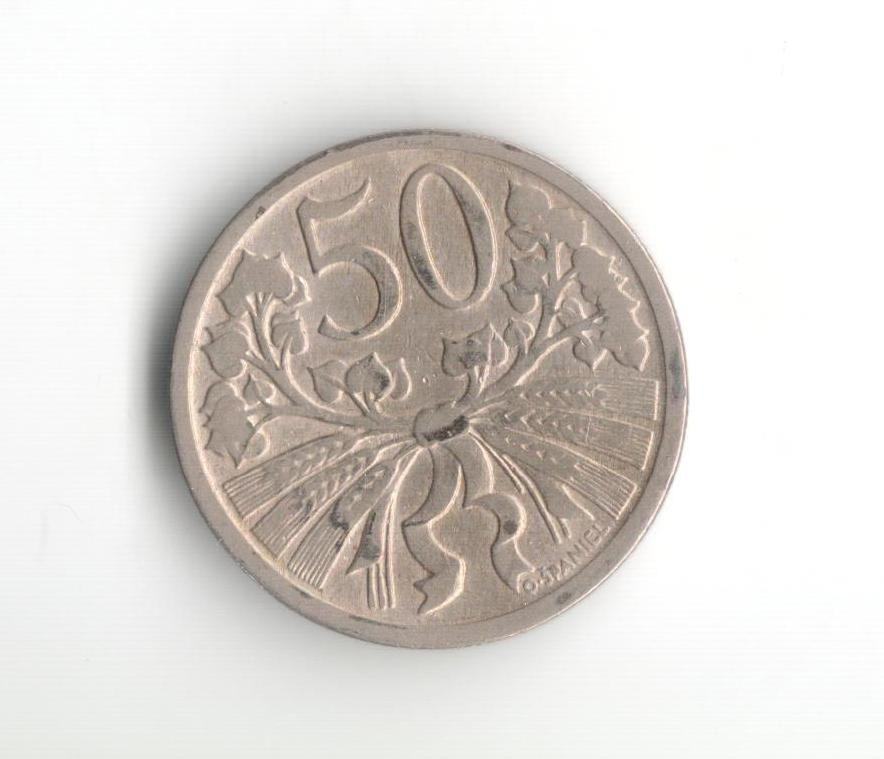 50 Haléř(1921), stav 1+/0