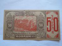 50 Heller, nouzovka, (Rodaun) Rakousko