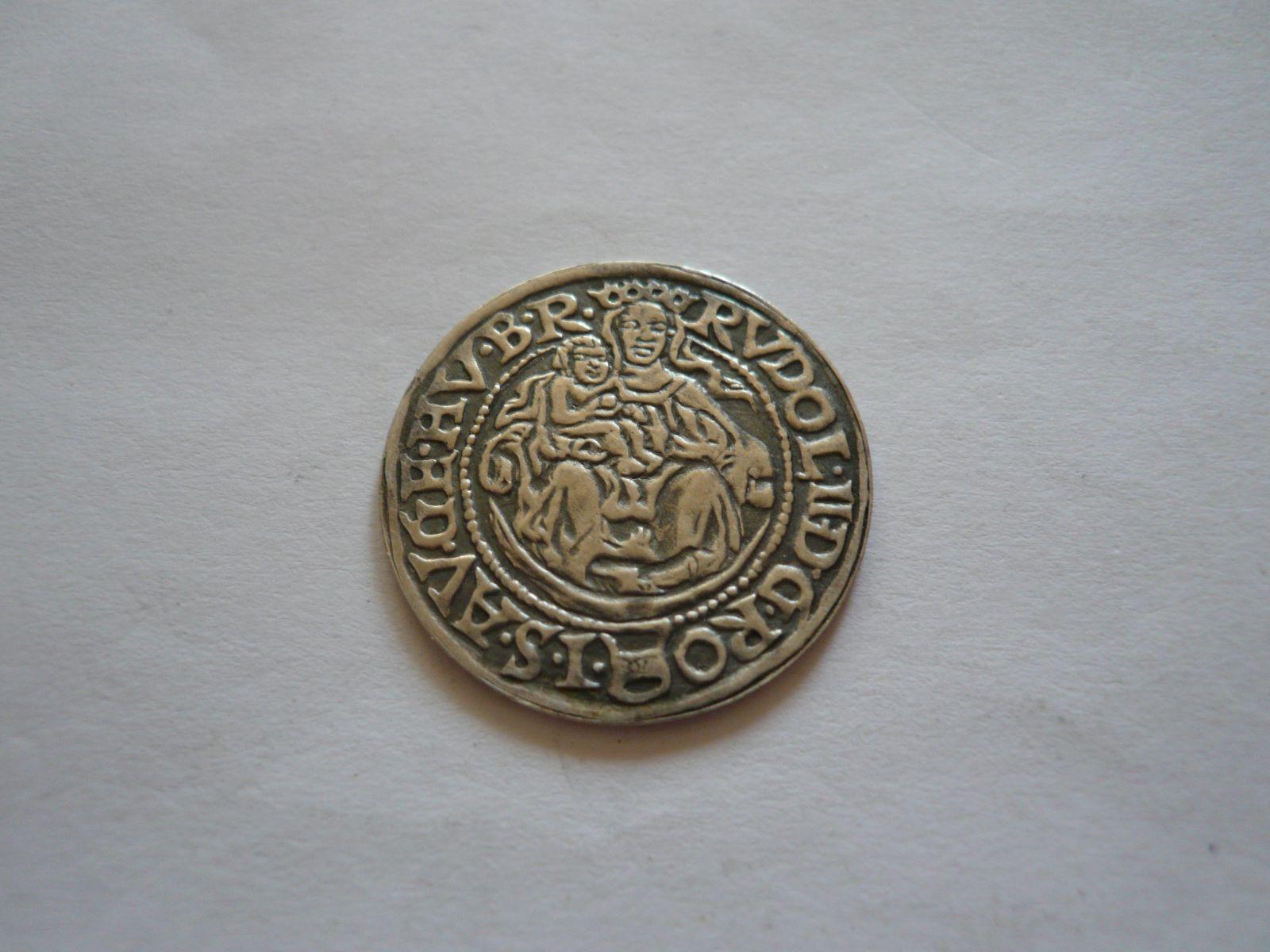 dukátová medaile Rudolf II., postříbřená, 1972, ČSR