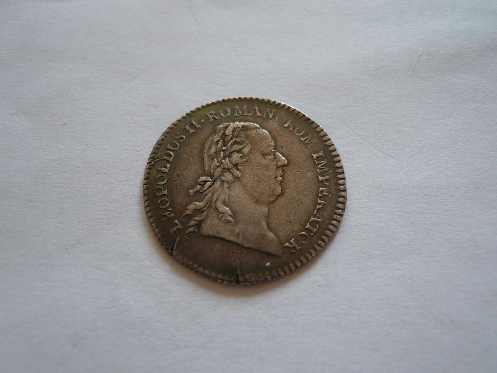 korunovační žeton Leopolda II., na císaře, 1790, Rakousko