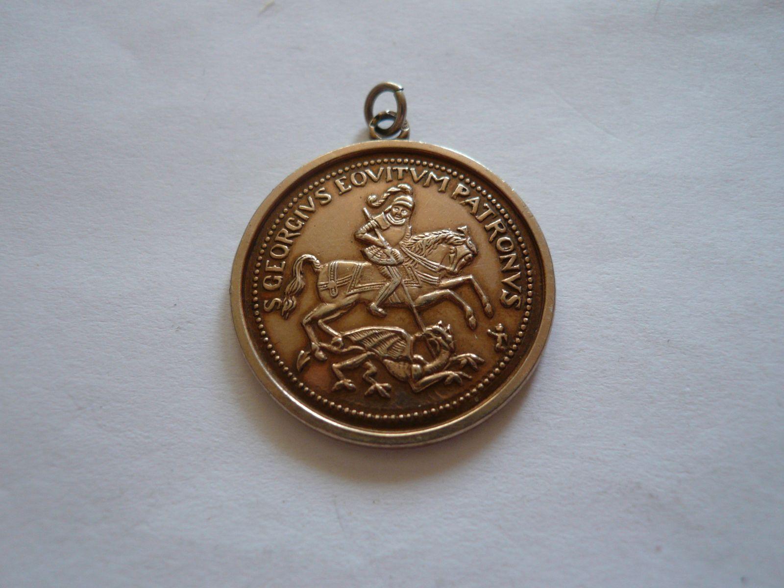 medaile sv. Jiří, zlacená ČSR