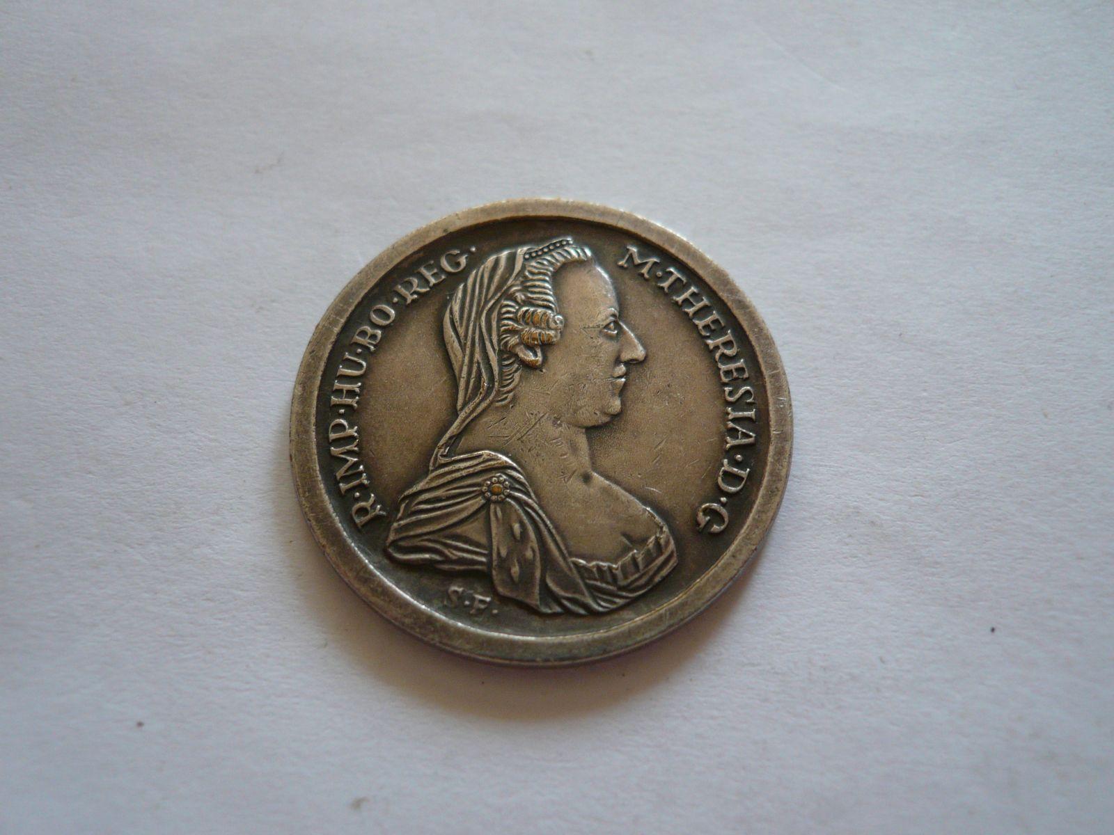 pamětní medaile postříbřená, 1780, Rakousko