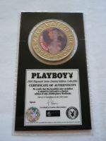 plaketa Playboy, blondýnka+certifikát