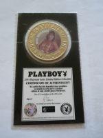 plaketa Playboy, černovláska+certifikát