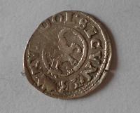 Čechy Bílý Peníz 1593 Rudolf II.