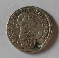 Rakousko – Gratz 6 Krejcar 1679 Leopold I., dirka