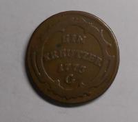 Rakousko – Günzburg 1 Krejcar 1773 G Marie Terezie