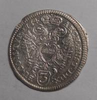 Rakousko – Vídeň 3 Krejcar 1734 Karel VI.