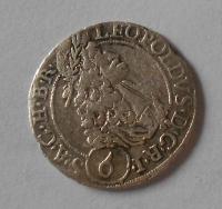 Slezsko – Vratislav 6 Krejcar 1693 Leopold I.