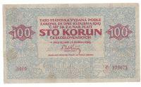 100Kč/1919/, stav 2+ o., série 0010