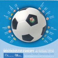 Ročníková sada oběžných mincí ČR (2004-Mistrovství Evropy ve fotbale), stavy 0/0