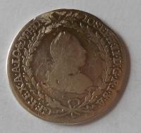 Čechy – Praha 20 Krejcar 1780-1790 Josef II., měl ouško