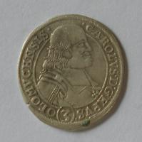 Olomouc – Arcibiskupství 3 Krejcar 1695 Karel II. Licht.