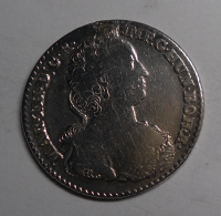 Rakousko 1/4 Dukaton 1753 Marie Terezie, měl ouško