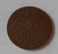 Rakousko 1/4 Krejcar 1816 A František II.