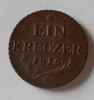 Rakousko 1 Krejcar 1816 A František II., pěkný