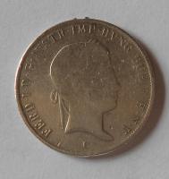 Rakousko 20 Krejcar 1845 C Ferdinand V., měl ouško